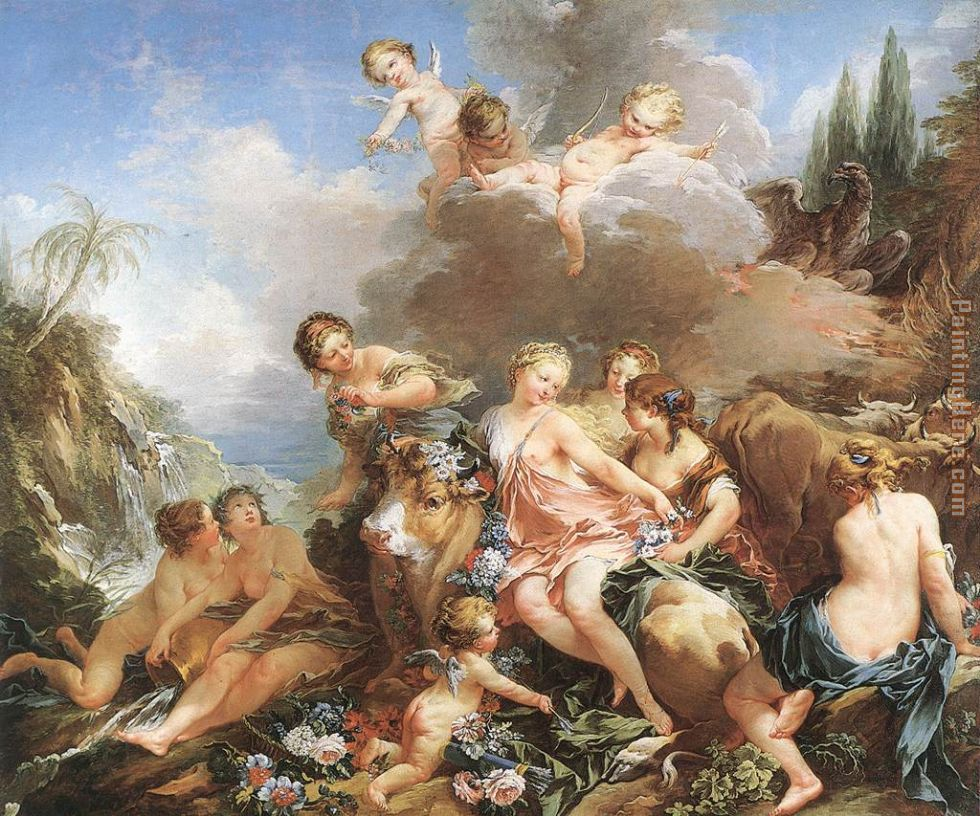 The Rape of Europa painting - Francois Boucher The Rape of Europa art painting