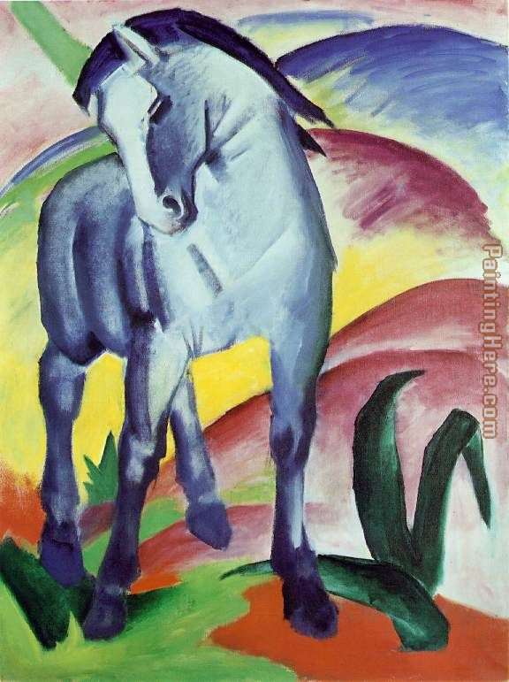 Blue Horse painting - Franz Marc Blue Horse art painting