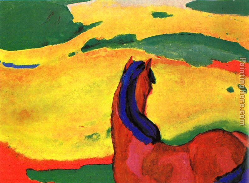 Horse in a Landscape painting - Franz Marc Horse in a Landscape art painting