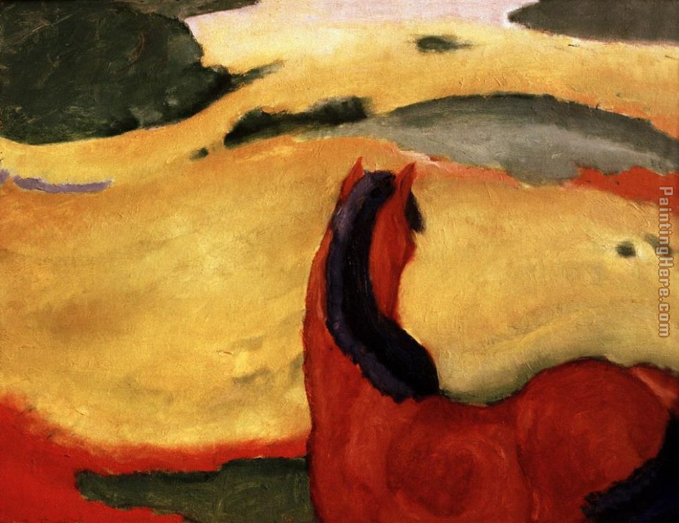 Pferd in Landschaft painting - Franz Marc Pferd in Landschaft art painting