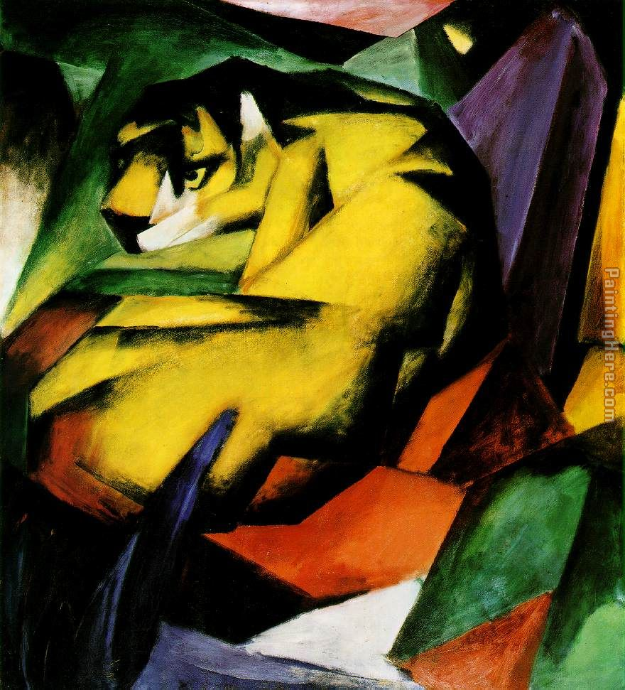 Franz Marc Tiger Art Painting