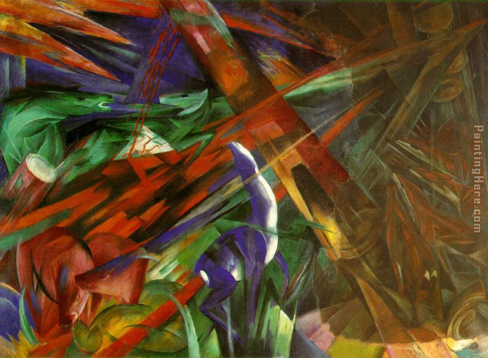 fate animals painting - Franz Marc fate animals art painting