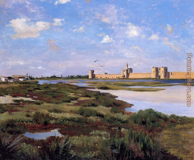 Aigues-Mortes painting - Frederic Bazille Aigues-Mortes art painting