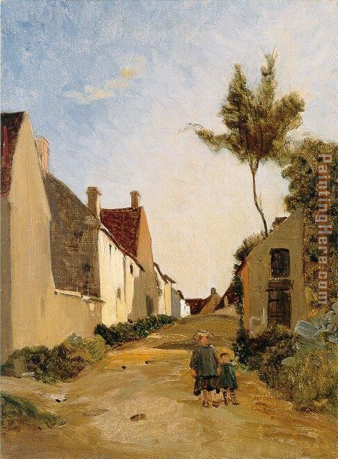 Village Street painting - Frederic Bazille Village Street art painting