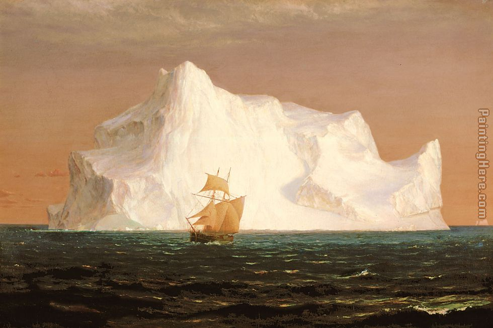 The Iceberg painting - Frederic Edwin Church The Iceberg art painting