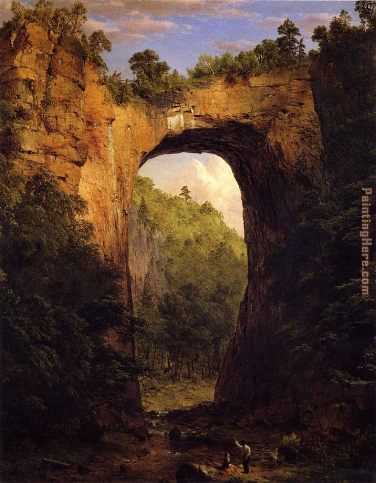 The Natural Bridge painting - Frederic Edwin Church The Natural Bridge art painting