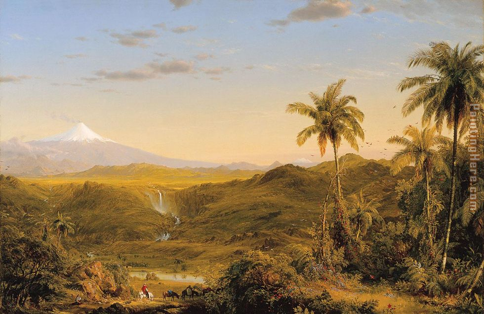 View of Cotopaxi painting - Frederic Edwin Church View of Cotopaxi art painting