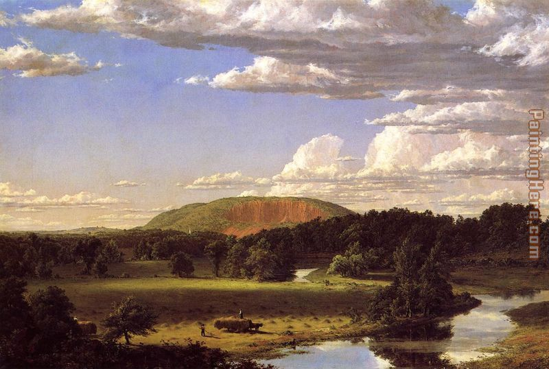 West Rock, New Haven painting - Frederic Edwin Church West Rock, New Haven art painting