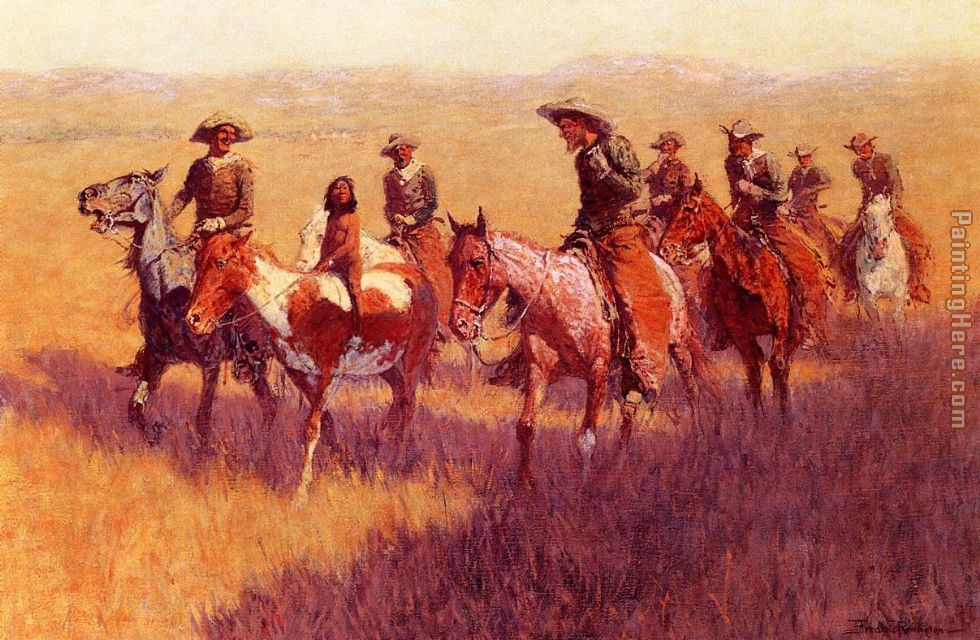 An Assault on His Dignity painting - Frederic Remington An Assault on His Dignity art painting