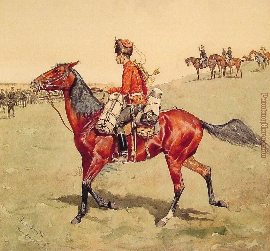 Hussar Russian Guard Corps painting - Frederic Remington Hussar Russian Guard Corps art painting