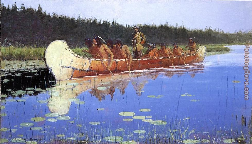 Radisson and Groseilliers painting - Frederic Remington Radisson and Groseilliers art painting