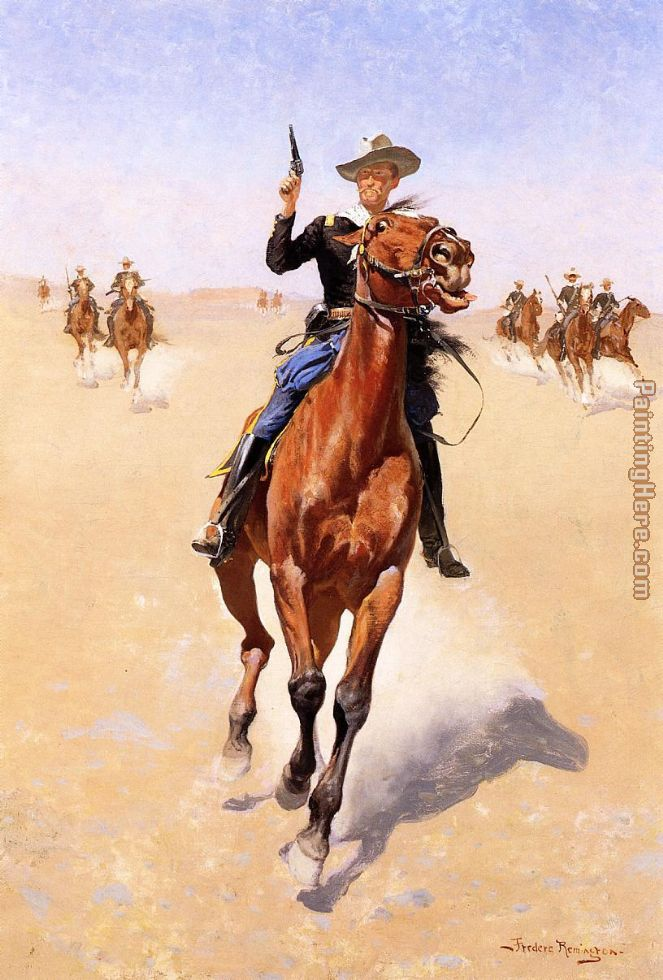The Trooper painting - Frederic Remington The Trooper art painting