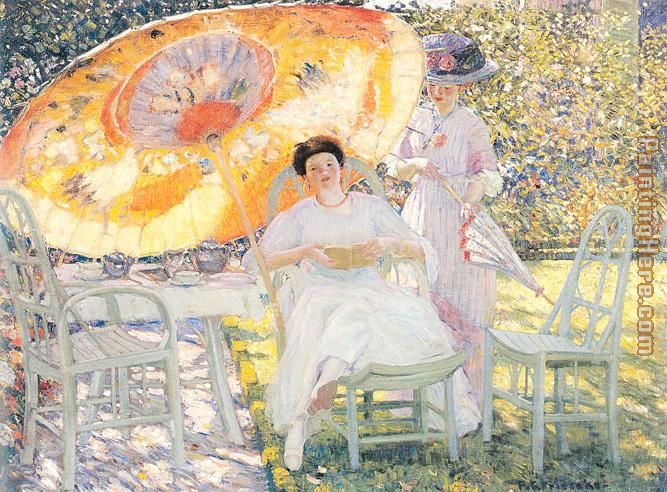 The Garden Parasol painting - Frederick Carl Frieseke The Garden Parasol art painting