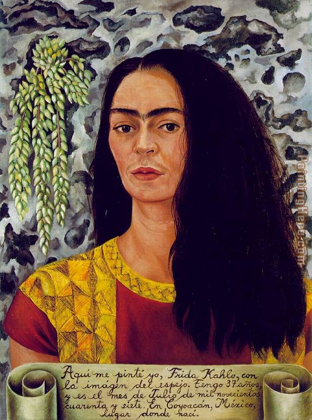 Frida Kahlo Self Portrait With Loose Hair Painting For Sale This Painting