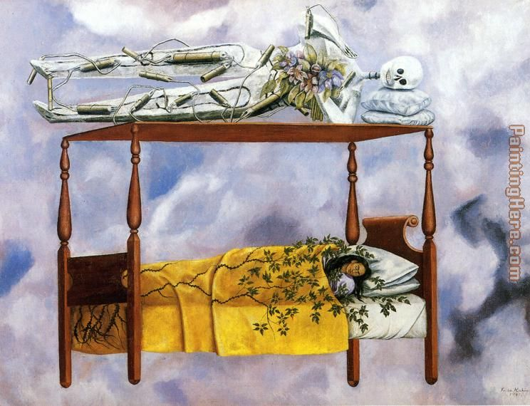 The Dream painting - Frida Kahlo The Dream art painting