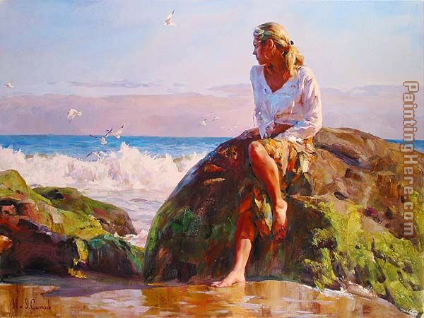 Garmash GAZING AT THE WAVES Art Painting