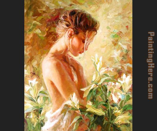 Lost in Lillies painting - Garmash Lost in Lillies art painting