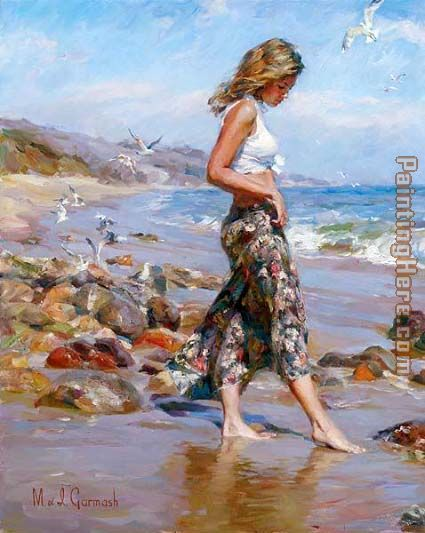 Garmash Toes in the Sand Art Painting