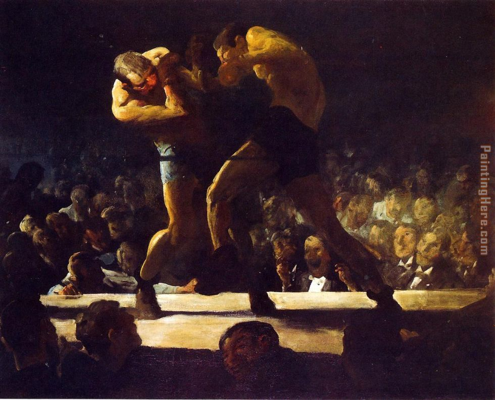 Club Night painting - George Bellows Club Night art painting