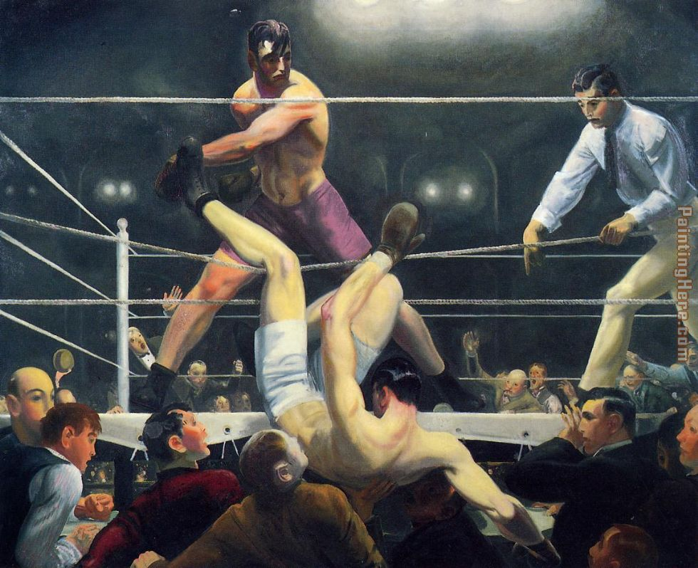 Dempsey and Firpo painting - George Bellows Dempsey and Firpo art painting