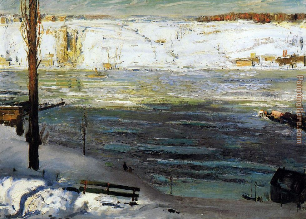 Floating Ice painting - George Bellows Floating Ice art painting