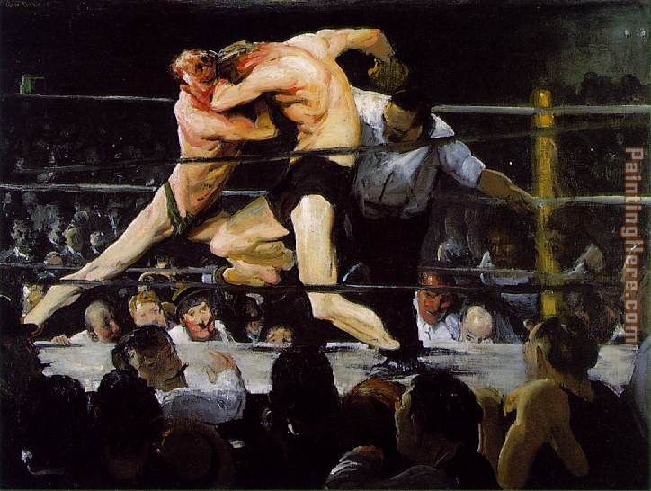 Stag at Sharkey's painting - George Bellows Stag at Sharkey's art painting