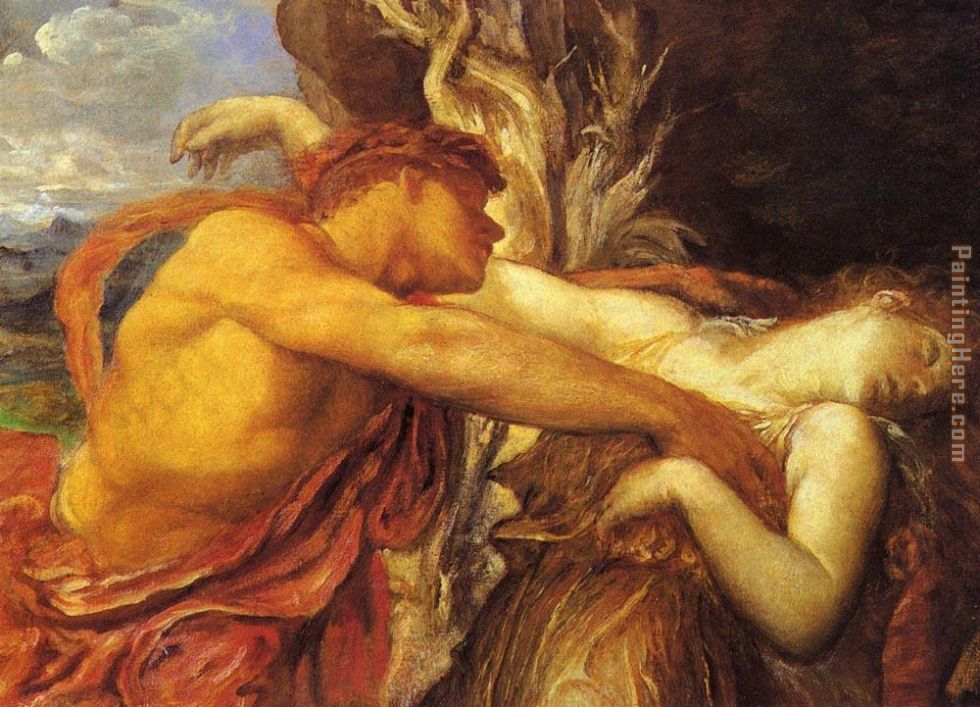 Watts - George Frederick Watts Orpheus and Eurydice detail PaintingOrpheus And Eurydice