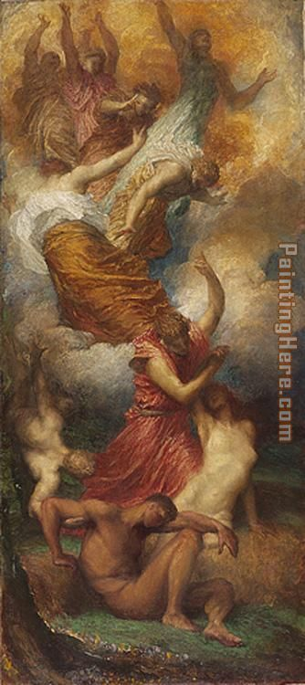 The Creation of Eve painting - George Frederick Watts The Creation of Eve art painting
