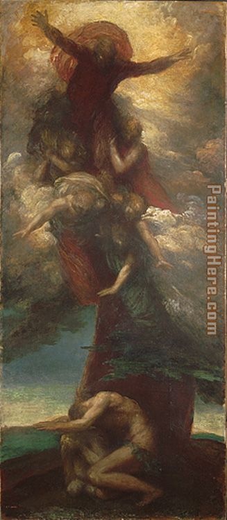 George Frederick Watts The Denunciation of Adam and Eve Art Painting