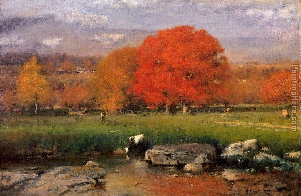 Catskill Valley painting - George Inness Catskill Valley art painting