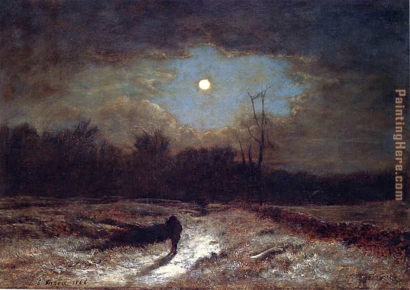 George Inness Christmas Eve Art Painting