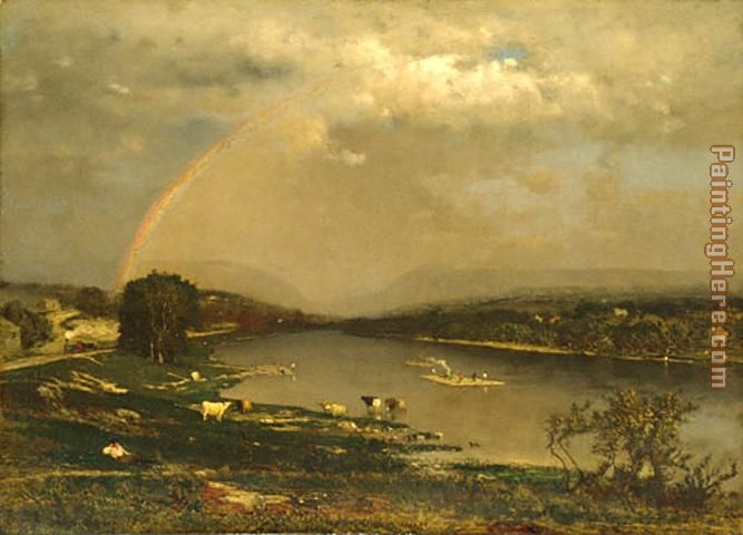 Delaware Water Gap painting - George Inness Delaware Water Gap art painting