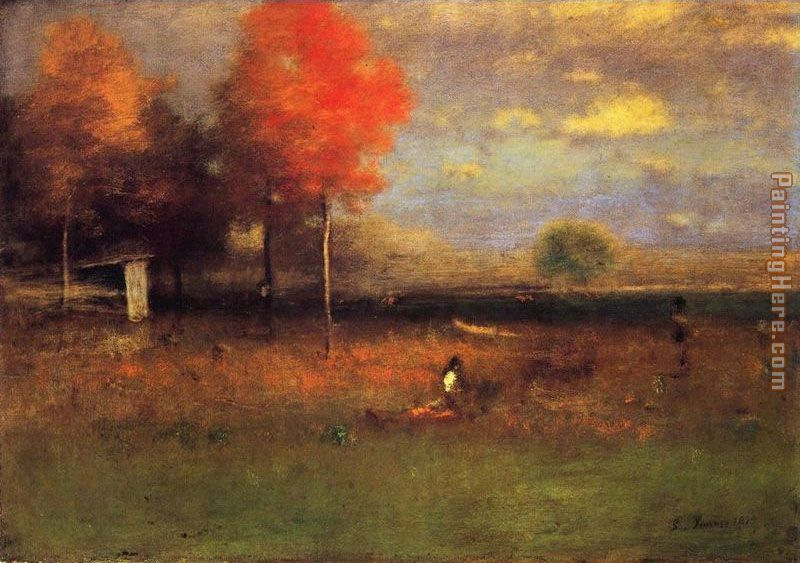George Inness Indian Summer Art Painting