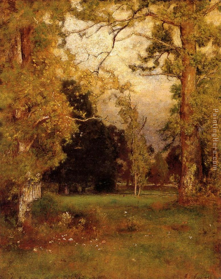 Late Afternoon painting - George Inness Late Afternoon art painting