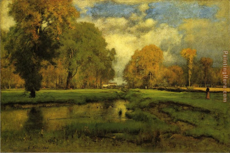 October painting - George Inness October art painting