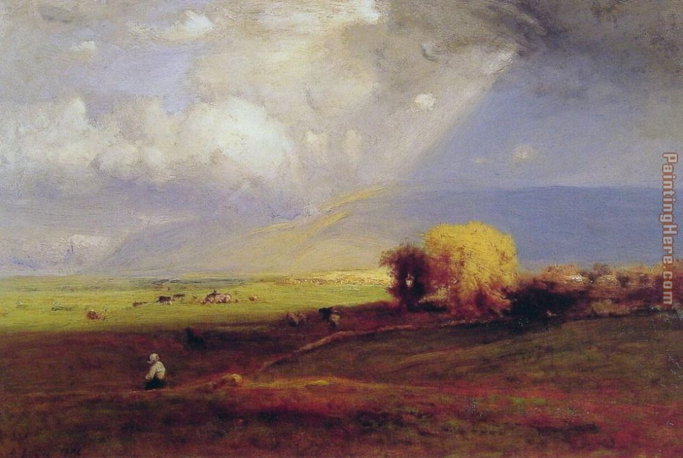 George Inness Passing Clouds Art Painting