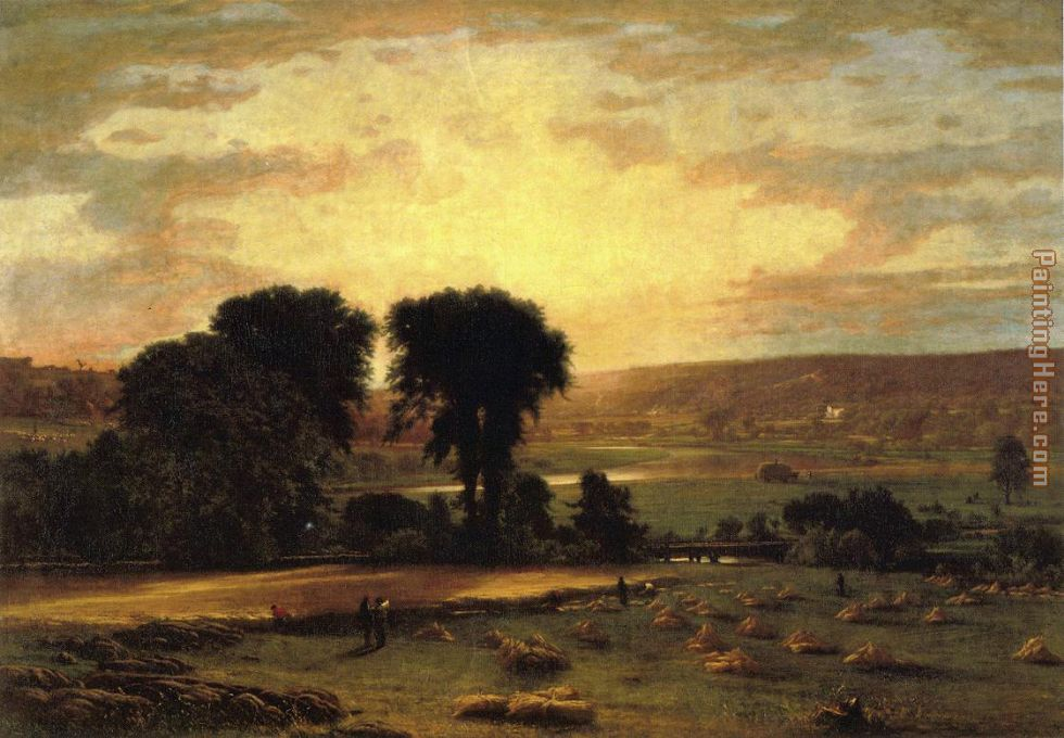 Peace and Plenty painting - George Inness Peace and Plenty art painting