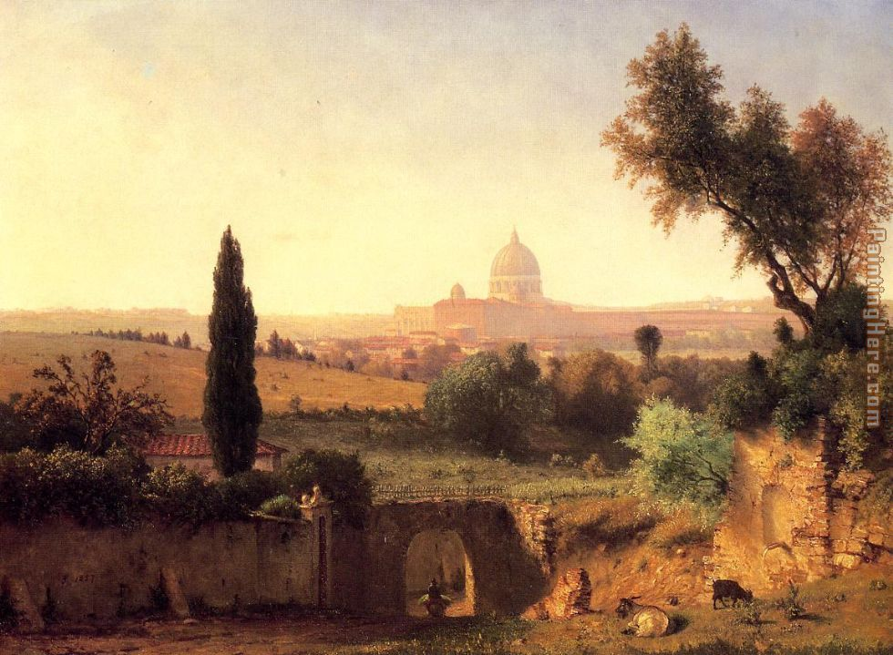 Rome painting - George Inness Rome art painting