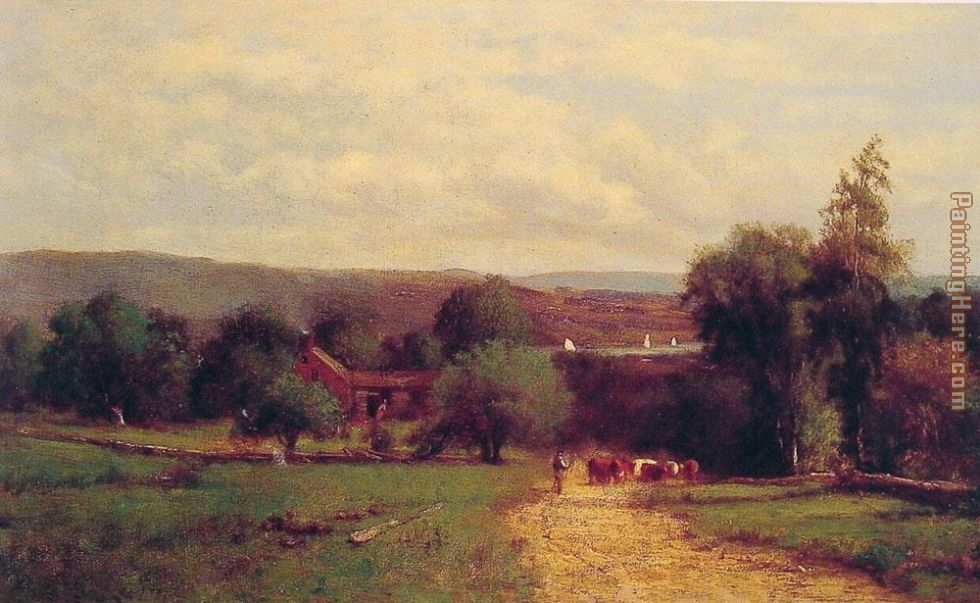 Spring painting - George Inness Spring art painting