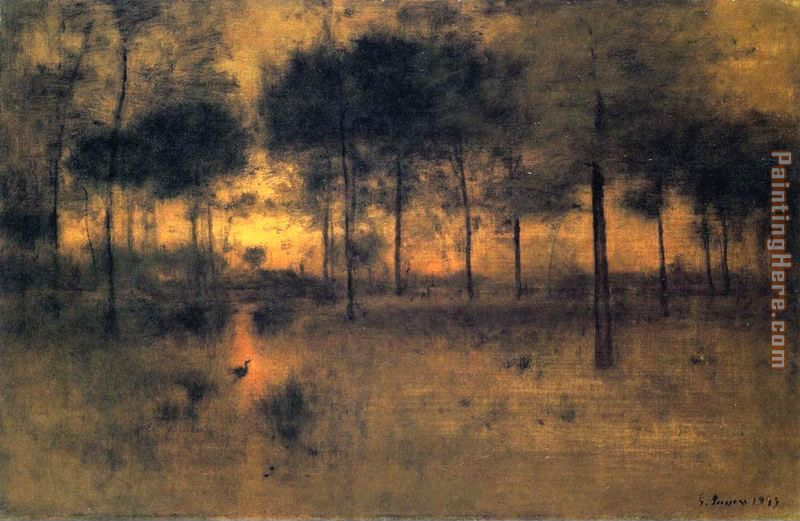The Home of the Heron painting - George Inness The Home of the Heron art painting