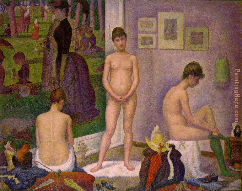 The Models painting - Georges Seurat The Models art painting