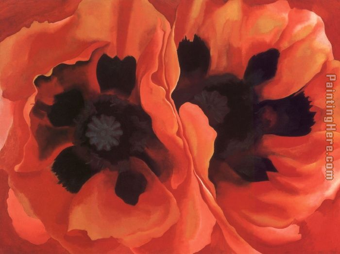 Georgia O'Keeffe Oriental Poppies 1928 Art Painting
