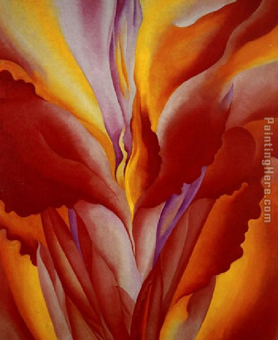 Georgia O'Keeffe Red Canna 1923 Art Painting