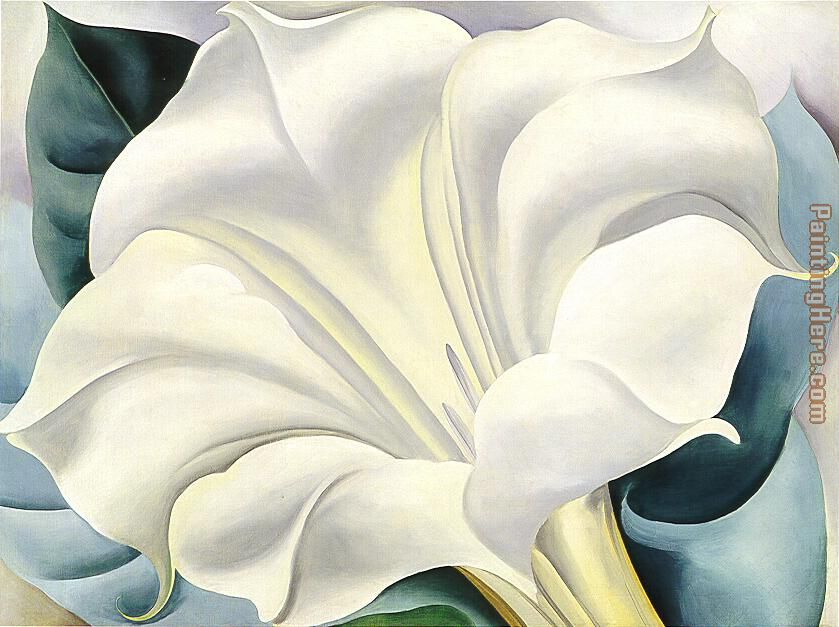 White Flower painting - Georgia O'Keeffe White Flower art painting