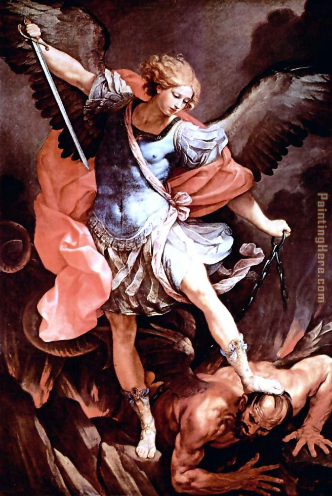 The Archangel Michael painting - Guido Reni The Archangel Michael art painting