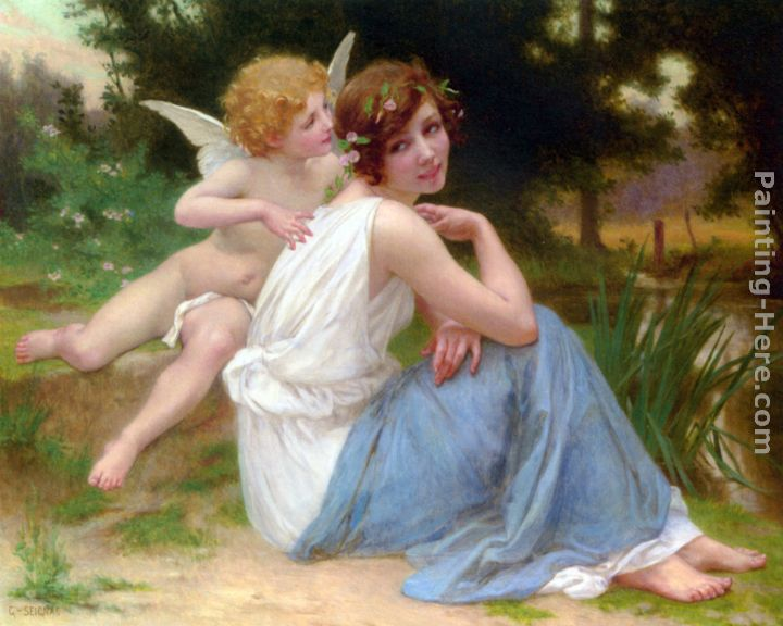 Guillaume Seignac Cupid and Psyche Art Painting