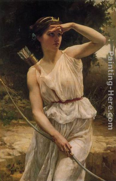 Guillaume Seignac Diana Hunting Art Painting