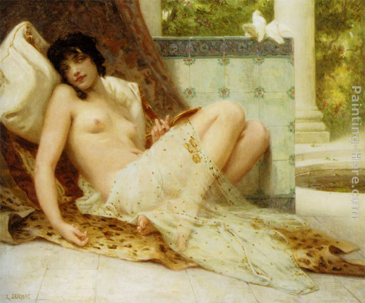 L'Odalisque Aux Colombes painting - Guillaume Seignac L'Odalisque Aux Colombes art painting