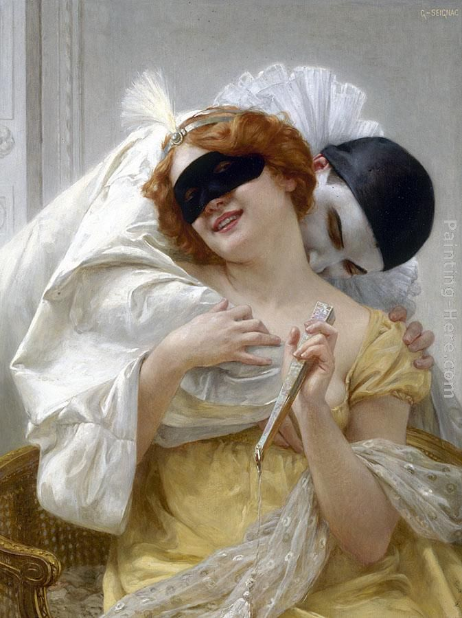 Guillaume Seignac Pierrot's Embrace Art Painting