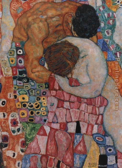 Death and Life painting - Gustav Klimt Death and Life art painting